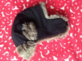 Aviator Hat black-light grey fake fur