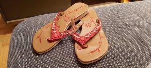 Flip flop sandalen camel-rood