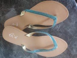 Rio Flip flop sandalen neon blauw