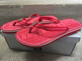 Gaastra Flip flop sandalen donkerrood Polyurethaan