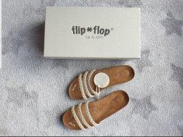Flip*Flop Sandale Sandalen Pantolette in weiß 40 (39)