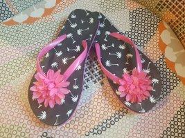 Flip-Flops mit pinker Blume NEU wertig Gr.35/36