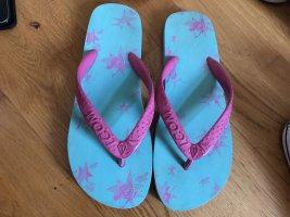 Flip Flops von Volcom pink blau Größe 38 39 Latschen Sandalen neu