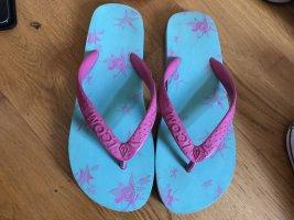 Volcom Flip-Flop Sandals pink-turquoise