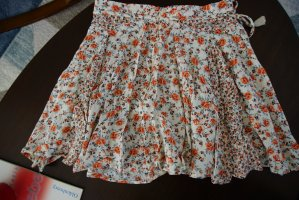 Floral mini skater skirt
