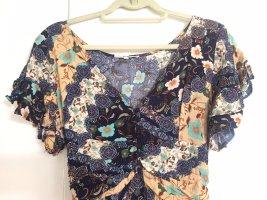 Florales Boho-Kleid   Maxikleid   Blumen Muster   Hippiekleid