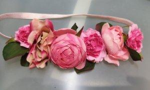 H&M Haarband roze-groen