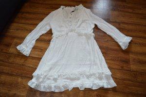 Flounce Mini Dress Milena Karl x NA-KD, Weiß Gr. 38 Neu