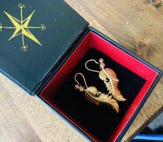 Drachenfels Design Orecchino a pendente giallo-oro-oro