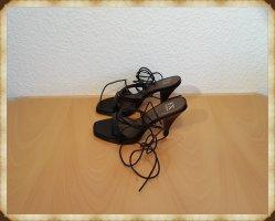FLUXA High Heels Sandaletten Damenschuhe Gr. 39 - 10cm Absätze schwarz