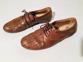 Fly London Leder Schuhe Oxford Gr. 41 in Braun - Sommer - perforiert