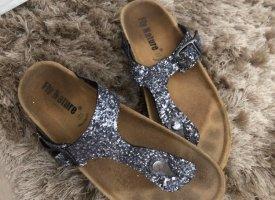 Flip flop sandalen grijs-paars
