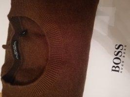 HUGO Hugo Boss Pull marin brun-ocre tissu mixte