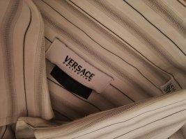 Versace Cols de blouses blanc-gris clair coton