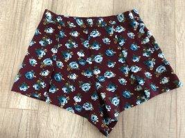 Forever 21 High Waisted Shorts bordeaux/blau Gr. S