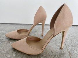 Forever 21 - Spitze High Heels in Wild-Leder-Optik in Nude