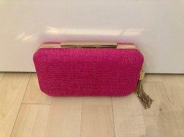 Forever new Clutch Handtasche klein pink gold Quaste neu Top