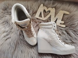 Fornarina Lace-up Booties beige