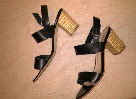 Fosco High Heels, Leder-Sandaletten. Gr. 39, guter Zustand!