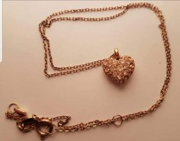 Fossil Gold Chain gold-colored-pink