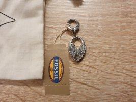 Fossil Pendentif argenté tissu mixte