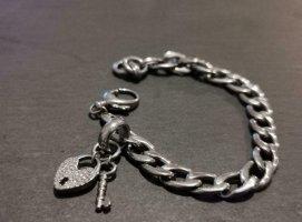Fossil Armband 925er Silber mit Herzanhänger