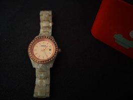 Fossil Analoog horloge roségoud-nude