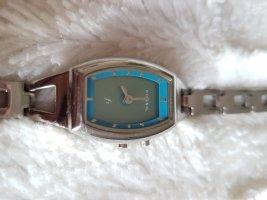 Fossil Armbanduhr Silber Türkis