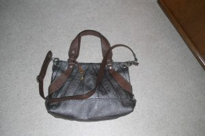Fossil Shopper brown-silver-colored leather