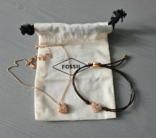 Fossil Herzkette + Herzarmband Set