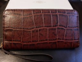 Fossil Wallet cognac-coloured-brown leather