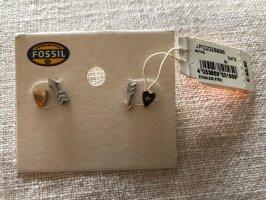 Fossil-Ohrringe, nie getragen