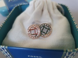 Fossil Clou d'oreille or rose