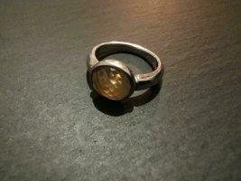 Fossil Ring 925 Silber Bernstein