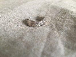 Fossil Ring silber