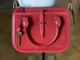 Fossil Satchel red