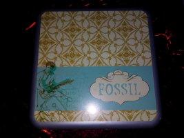 Fossil Knoop room-lichtblauw