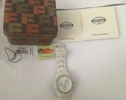 Fossil Horquilla para reloj blanco-color plata