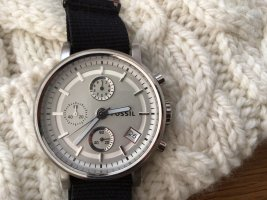 Fossil Analog Watch silver-colored-black