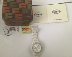 Fossil Watch Clasp white-silver-colored