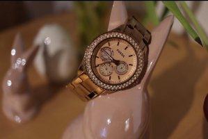Fossil Reloj analógico color rosa dorado