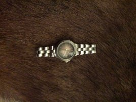 Fossil Uhr Silber zu verkaufen