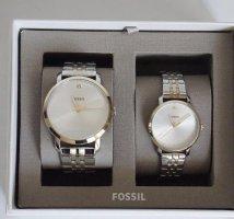 Fossil Zegarek z metalowym paskiem srebrny-złoto