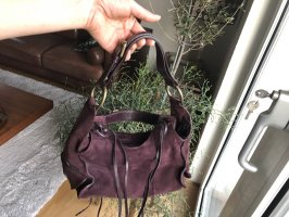 Francesco Biasia Sac Baril rouge mûre-violet cuir