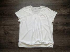 Frank Walder Top koszulowy biały Wiskoza
