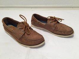 Zapatos de marinero marrón claro Cuero