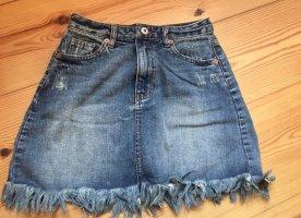 Fransen Jeans Rock von Pull&Bear