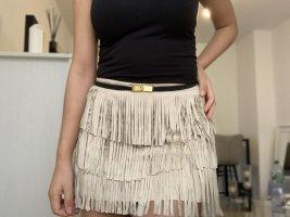 Mexx Fringed Skirt cream mixture fibre