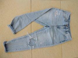 Review Jeans baggy bleu azur