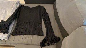 Amisu V-Neck Sweater black